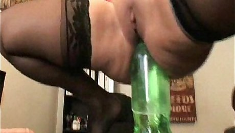 Ava Devine bottles and dildos extreme insertion